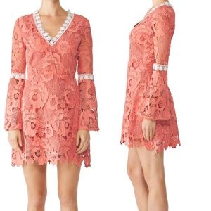 Alexia Admor Pink Contrast Lace Dress